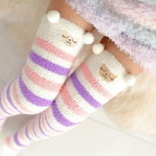 Kinky Cloth Socks Lavender / One Size Kawaii Fuzzy Animal Thigh High Socks