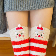 Kinky Cloth Socks Red / One Size Kawaii Fuzzy Animal Thigh High Socks
