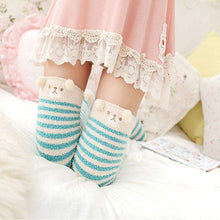 Kinky Cloth Socks Sky Blue / One Size Kawaii Fuzzy Animal Thigh High Socks