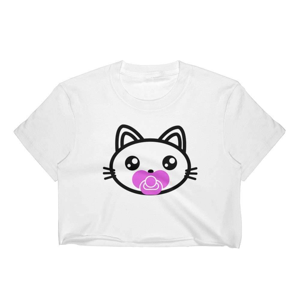 Kinky Cloth Top Crop Top - S / Pink Pacifier Kitten Pacifier Top