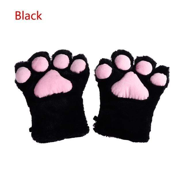 Kinky Cloth Black / One Size Kitten Paw Gloves