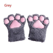 Kinky Cloth Gray / One Size Kitten Paw Gloves