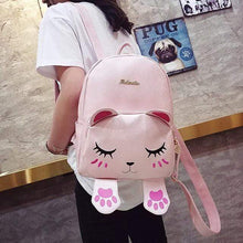 Turquoise Chloe Bags & Wallets PINK Kitty Cat Backpack Bag