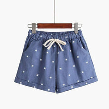 Kinky Cloth Jeanblue / One Size Kitty Print Pastel Shorts