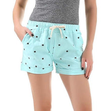 Kinky Cloth Skyblue / One Size Kitty Print Pastel Shorts
