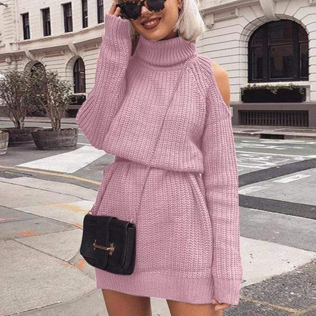 Kinky Cloth Dresses pink / XXL Knitted Sweater Dress