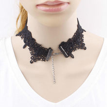 Kinky Cloth Lace Pearl Choker