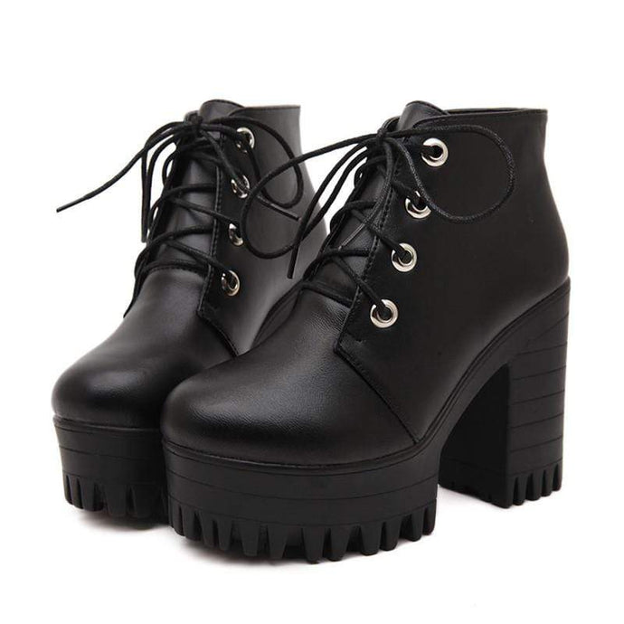 Kinky Cloth 200000998 Lace Up Platform Ankle Boots