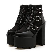 Kinky Cloth 200000998 Lacing High Heel Platform Boots