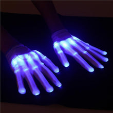 Kinky Cloth accessories LED Blue Glow Gloves