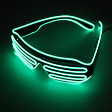 Kinky Cloth Accessories Green LED Glasses