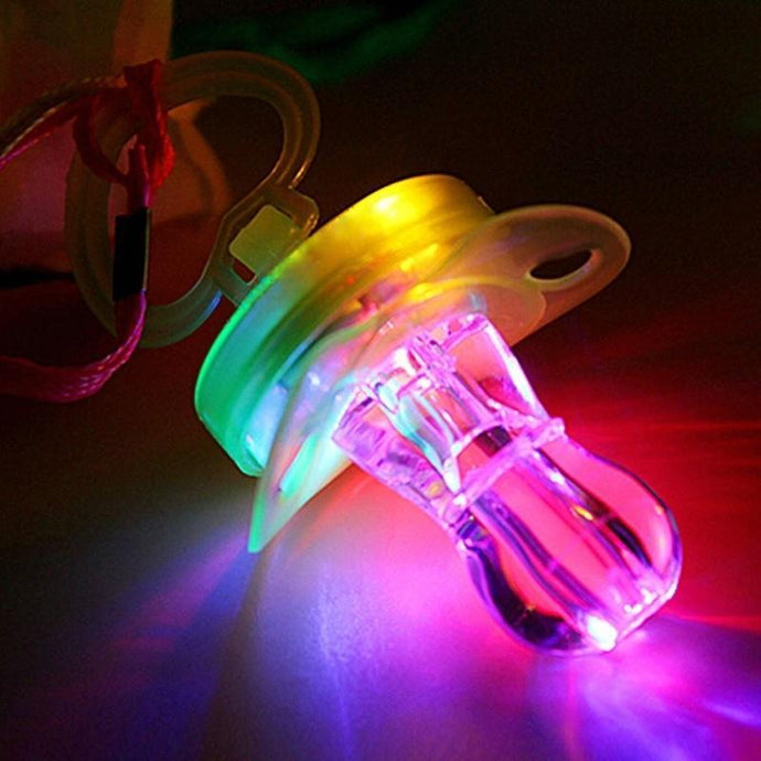 Kinky Cloth Light Up Glowing Adult Pacifier