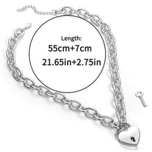 Kinky Cloth accessories Heart Lock Lock & Chain Choker