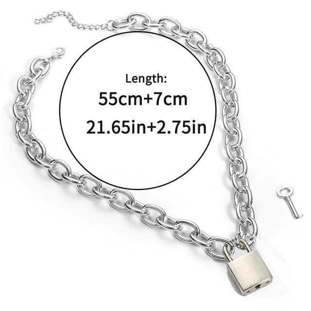 Kinky Cloth accessories Pad Lock Lock & Chain Choker