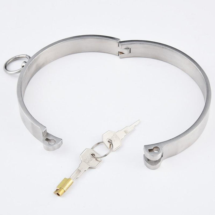 Kinky Cloth Lockable Stainless Steel Collar