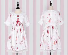 Load image into Gallery viewer, Kinky Cloth White Short Sleeves / S Lolita Bunny Dress