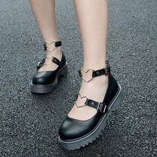 Kinky Cloth Shoes Black / 35 Lolita Heart Shoes