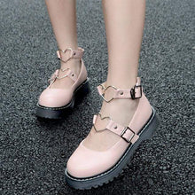 Kinky Cloth Shoes Pink / 35 Lolita Heart Shoes