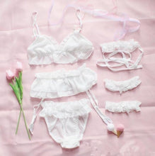 Kinky Cloth White Lolita Ruffle Lingerie Set