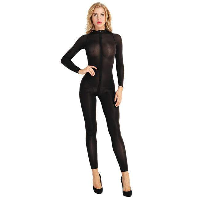 Kinky Cloth Bodysuit Black / M Long Sleeve Bodystocking