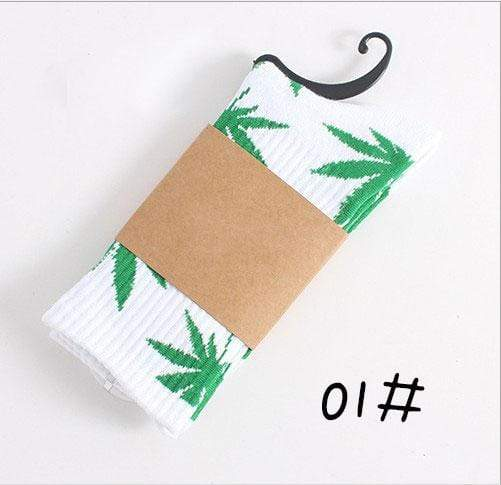 Kinky Cloth Socks 01 Marijuana Leaf Ankle Socks