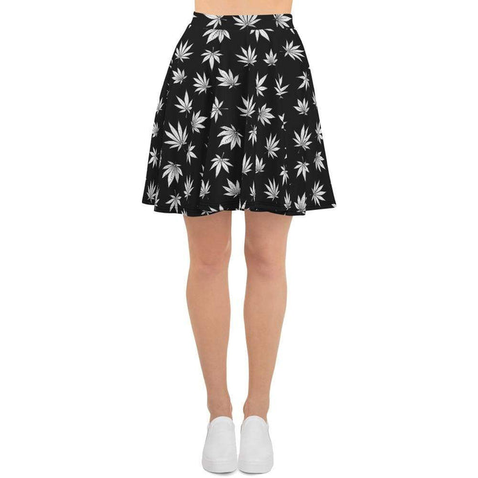 Kinky Cloth XS Marijuana Leaf Skater Skirt