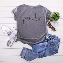 Kinky Cloth T-Shirt Gray / L Meow T-Shirt