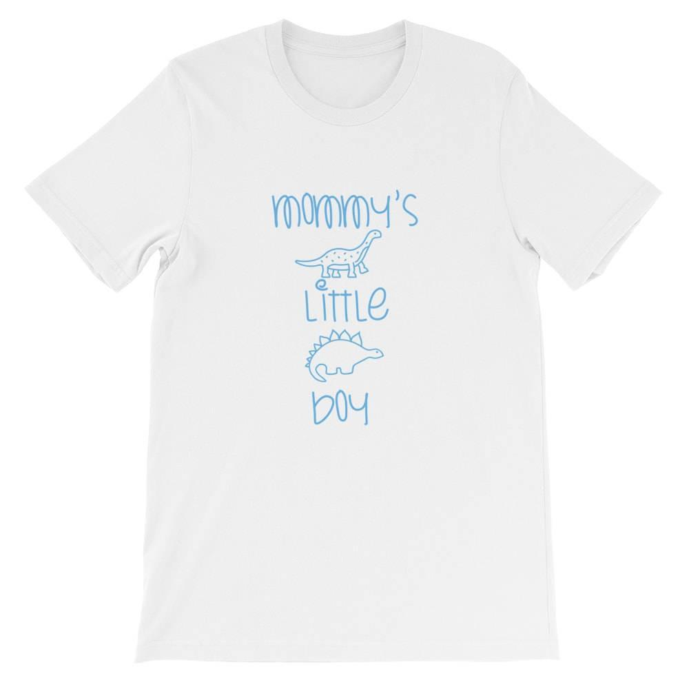 Kinky Cloth Top S / White/ Blue Font Mommy's Little Boy T-Shirt