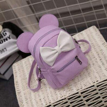 Kinky Cloth backpack 3 style purple Mouse Ears Bow Backpack