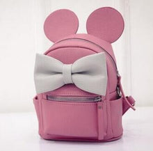 Kinky Cloth backpack pale pinkish gray Mouse Ears Bow Backpack