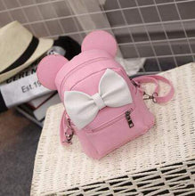 Kinky Cloth Bags & Wallets 3 style Pink Mouse Ears Bow Backpack