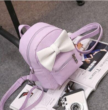 Kinky Cloth Bags & Wallets 4 style purple Mouse Ears Bow Backpack