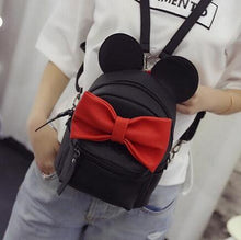 Kinky Cloth Bags & Wallets 5 style black Mouse Ears Bow Backpack