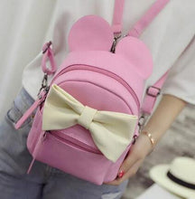 Kinky Cloth Bags & Wallets 5 style pink Mouse Ears Bow Backpack