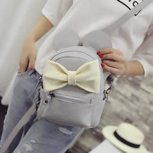 Kinky Cloth Bags & Wallets Gray beige bow Mouse Ears Bow Backpack
