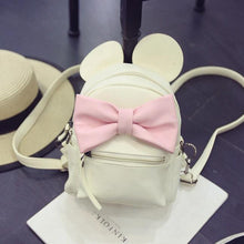 Kinky Cloth Bags & Wallets Milk white Mouse Ears Bow Backpack