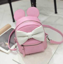 Kinky Cloth Bags & Wallets Pink Mouse Ears Bow Backpack