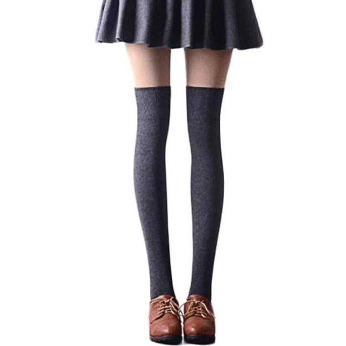 Kinky Cloth Black Naughty Nerd Thigh High Socks