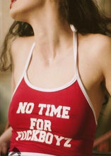Kinky Cloth Red / S No Time for Fuckboyz Halter Top