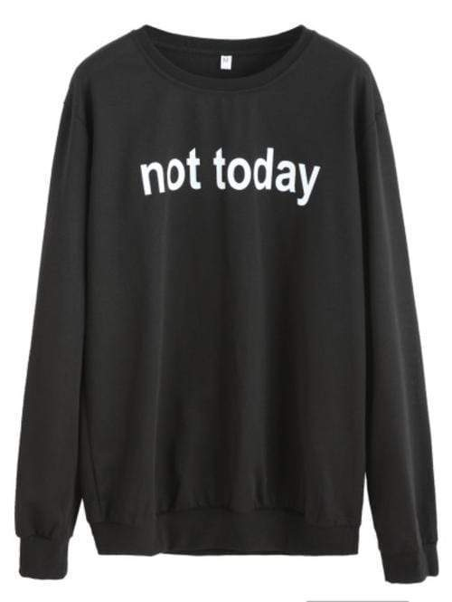 Celeste Top L Not Today Sweatshirt