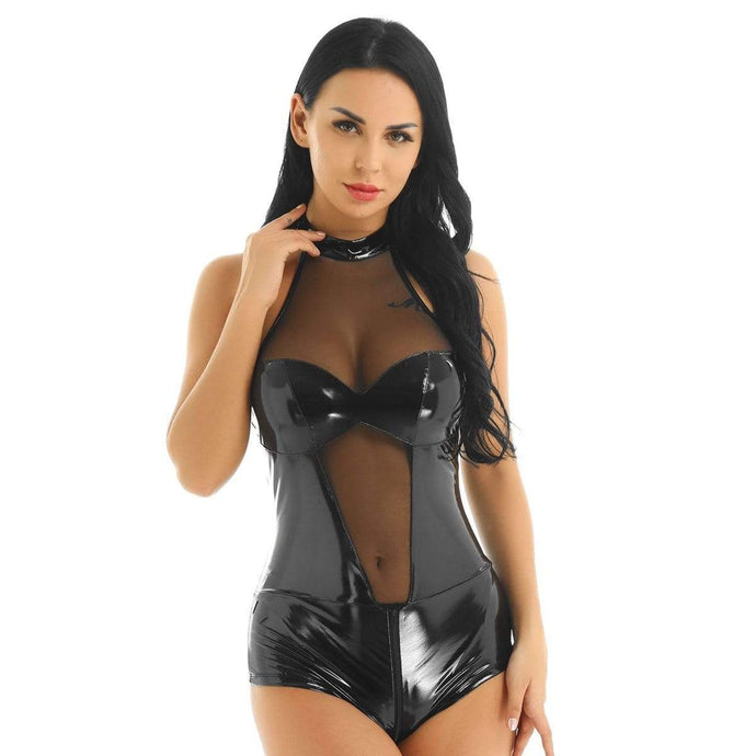 Kinky Cloth 200001800 Open Crotch Lingerie Latex Catsuit