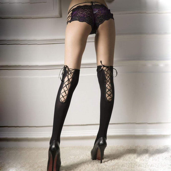 Kinky Cloth 200000868 Over The Knee Lace Bow Stockings