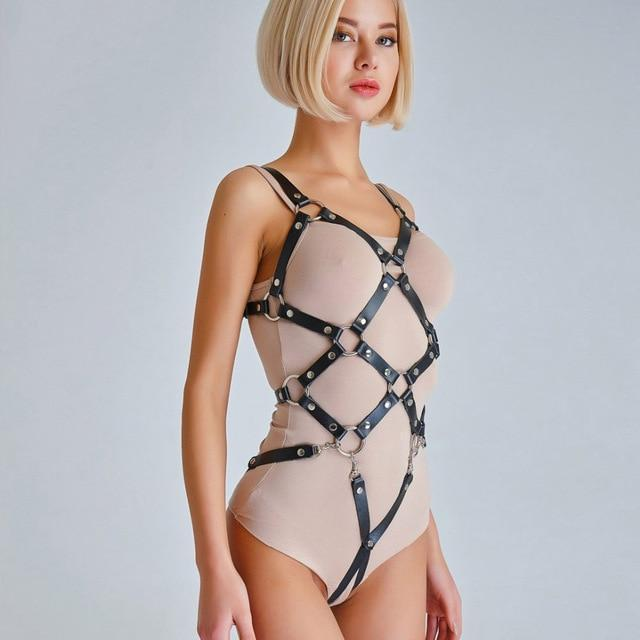 Kinky Cloth Harnesses Patch Grid Harness