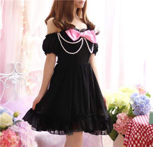 Kinky Cloth Dresses Black / One Size Pearl Bowknot Dress