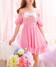 Kinky Cloth Dresses Pink / One Size Pearl Bowknot Dress