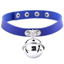 Kinky Cloth Blue Pet Kitten Bell Collar