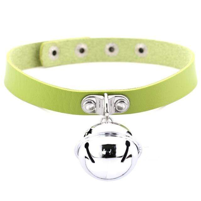Kinky Cloth green Pet Kitten Bell Collar
