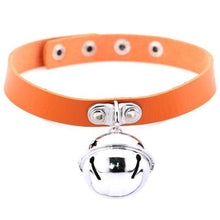Kinky Cloth orange Pet Kitten Bell Collar