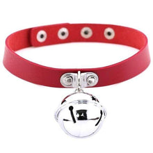 Kinky Cloth Red Pet Kitten Bell Collar