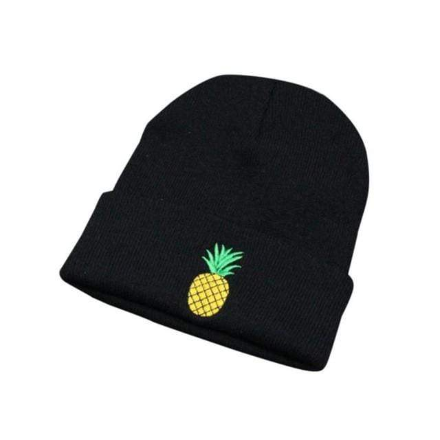 Kinky Cloth Black Pineapple Beanie